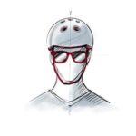 Illustration d'une personne avec un casque de vélo